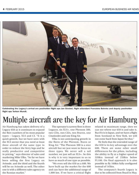 Multiple aircraft are the key for AIR HAMBURG