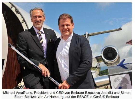 Air Hamburg kauft vier weitere Embraer Legacy 650E