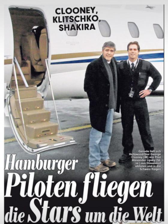 Hamburger Piloten fliegen die Stars um die Welt