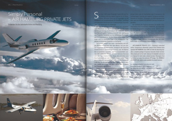 Simply personal - AIR HAMBURG PRIVATE JETS