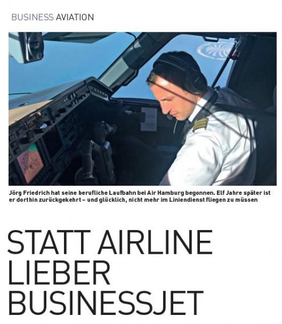 Statt Airline lieber Businessjet